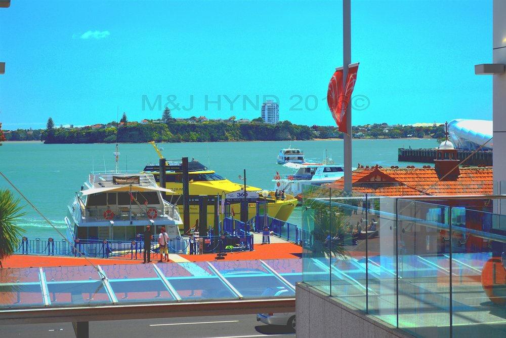 waterfront ferry terminal on Waitemata Harbour, Auckland, NZ