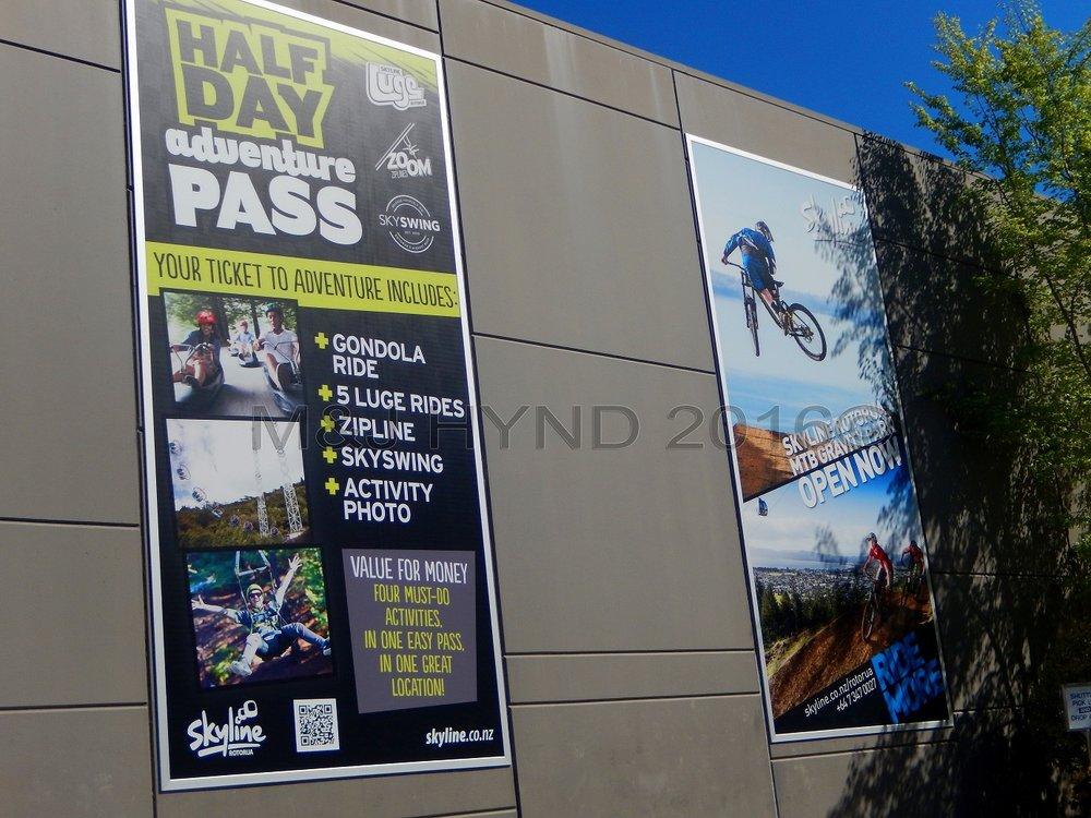 Skyline adventures poster, Rotorua, NZ
