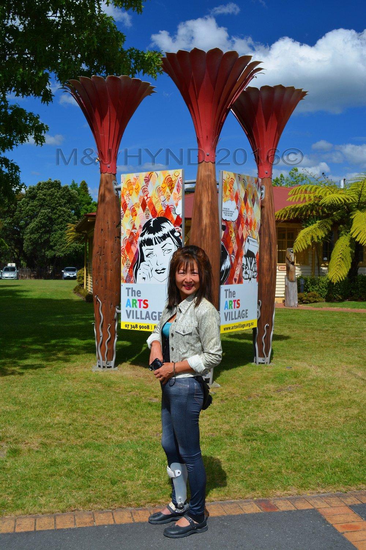 Arts Village sign, Rotorua, NZ