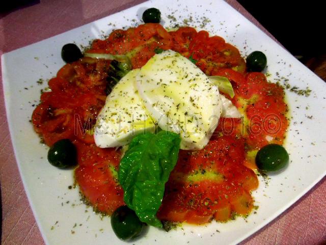 caprese salad, Taormina, Sicily, Italy