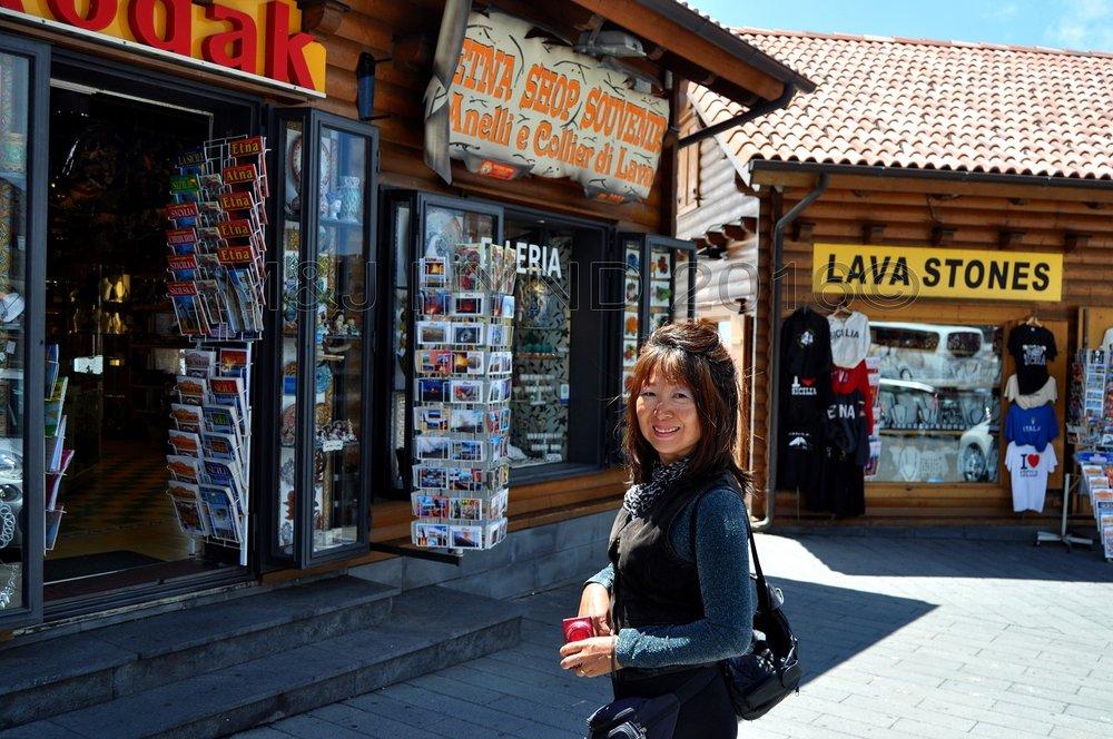 Mt. Etna summit souvenir shop, Sicily, Italy