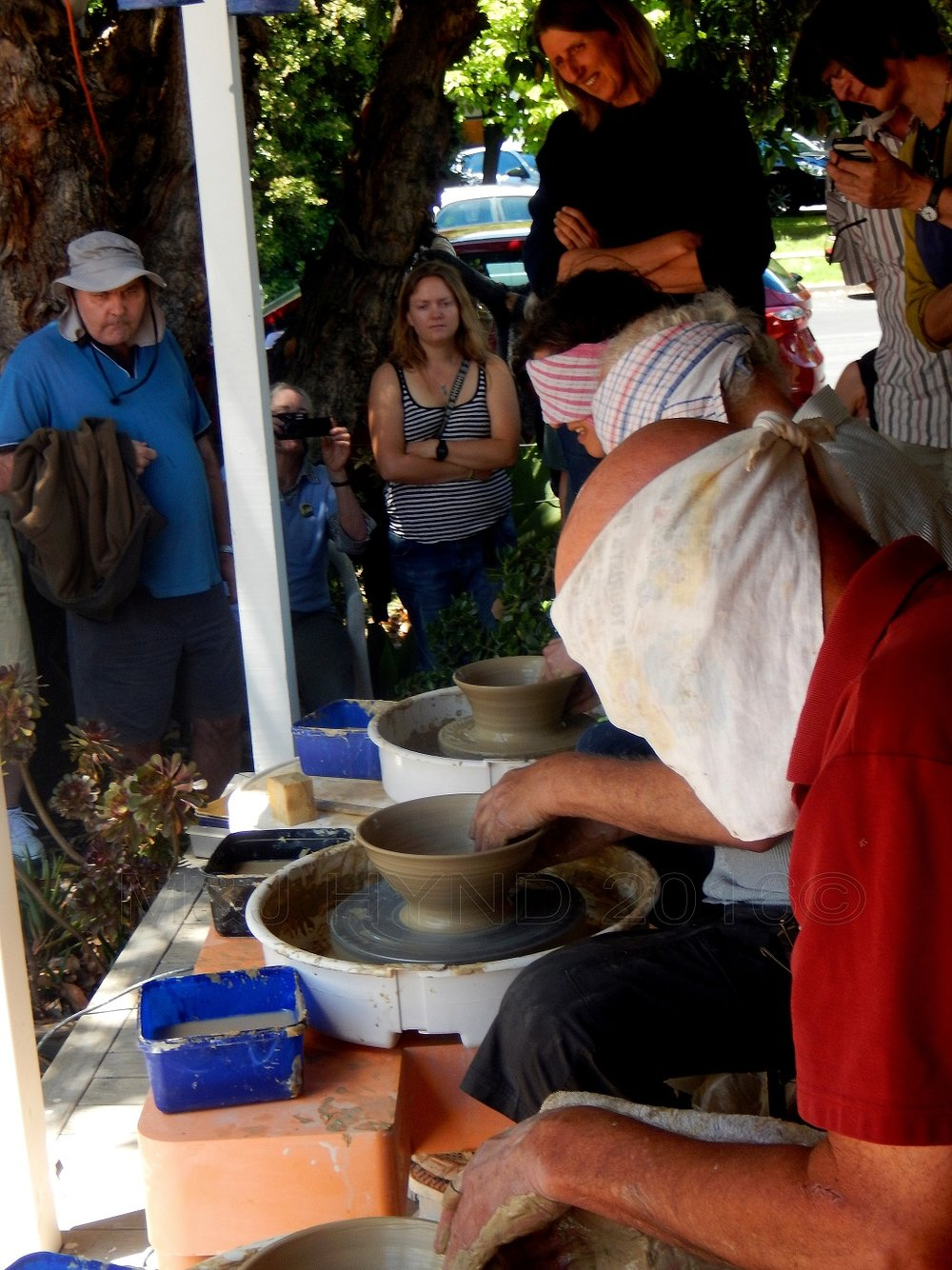 ASP Big Clay Day Out, making a pot blindfolded, Auckland, NZ