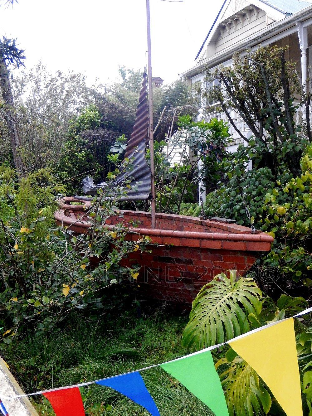 Brick boat, Auckland, NZ