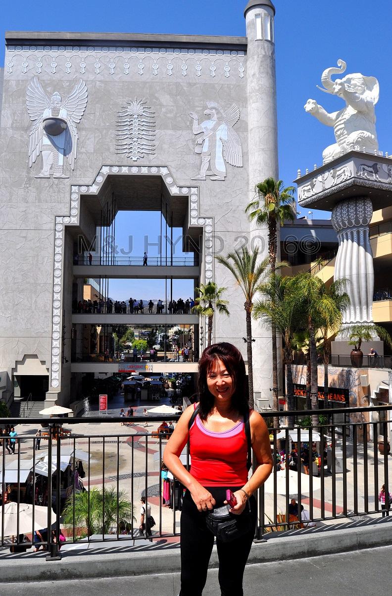 Egyptian front of Hollywood+Highland, Hollywood, LA, USA