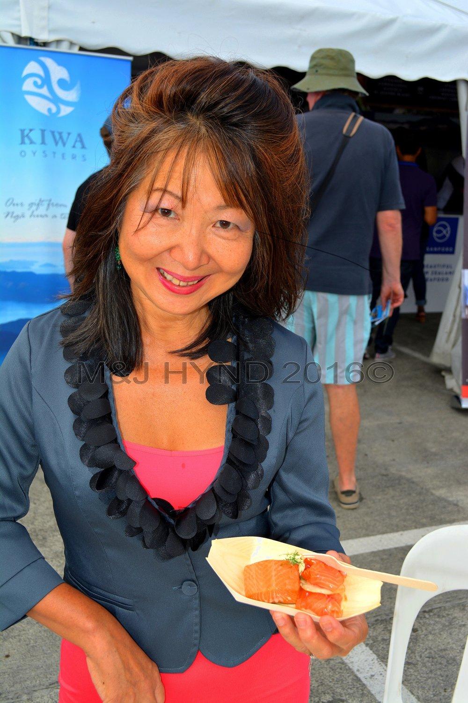 Salmon bites, Seafood Festival, Auckland, NZ