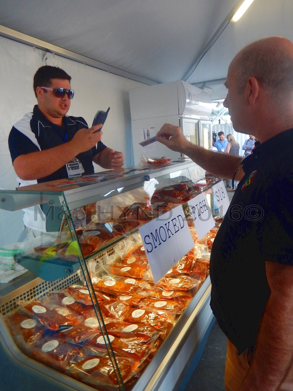 smoked fish, Seafood Festival, Auckland, NZ