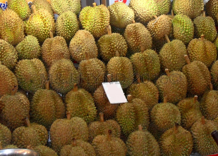 durian stall, Singapore