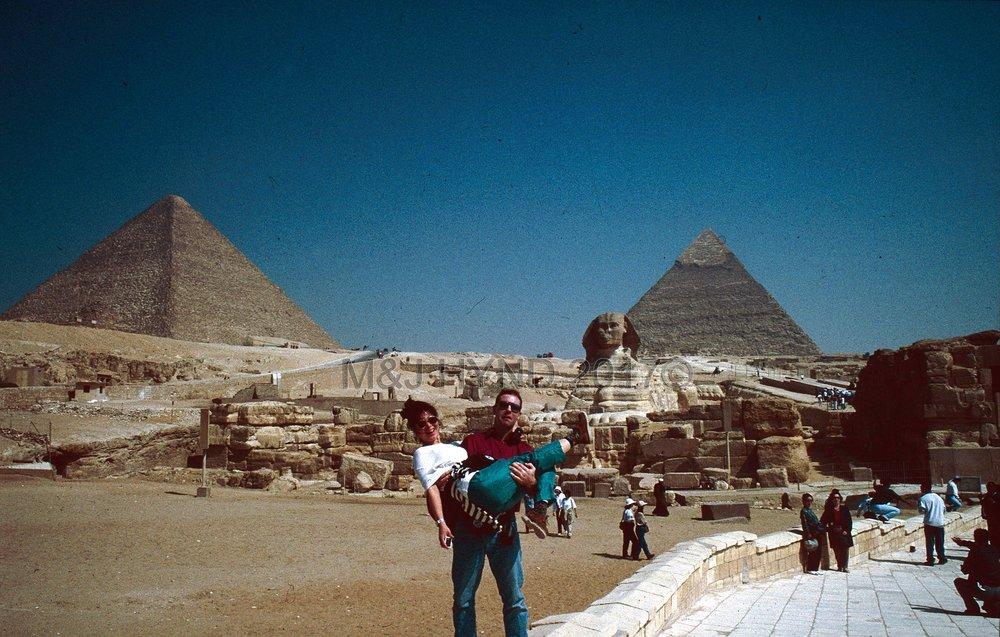 PreStroke pyramids of Giza & Sphinx, Cairo, Egypt
