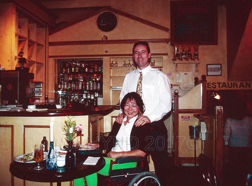 wheelchair Meteor restaurant, London, UK