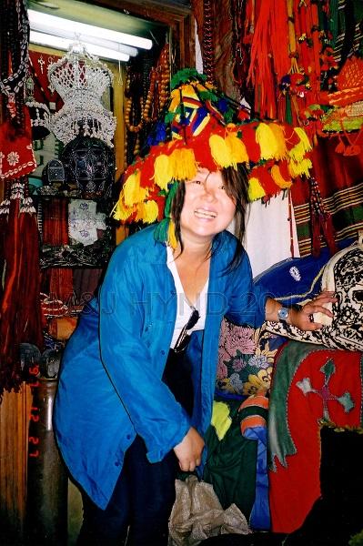 traditional hat, Jemaa el Fnaa souk, Marrakech, Morocco