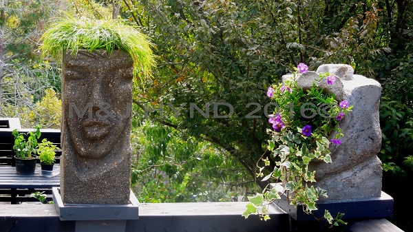 onehand handmade stone carved garden décor, Auckland NZ