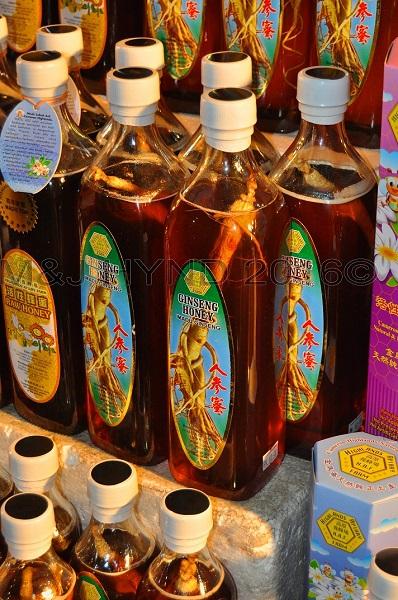 night market Ginseng honey, Brinchang, Cameron Highlands, Malaysia
