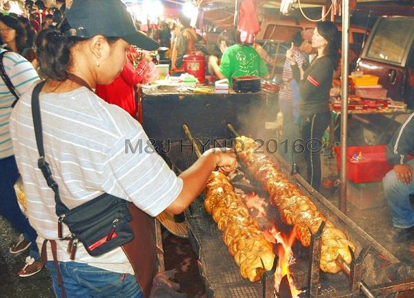 night market roasting chicken, Brinchang, Cameron Highlands, Malaysia