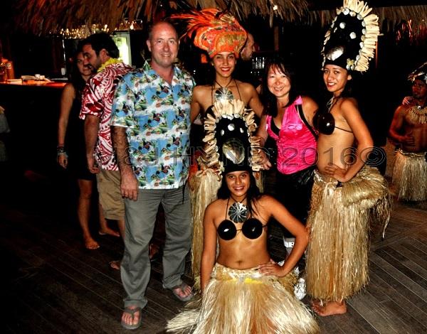 Te Vara Nui Village show dancers, Muri, Rarotonga, Cook Islands