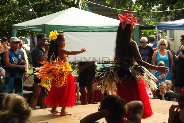 Punanga Nui market Polynesian dance, Avarua, Rarotonga, Cook Islands