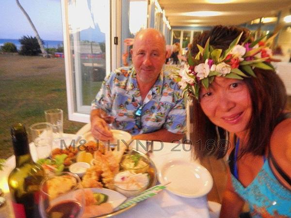 Tamarind House seafood dinner, Avarua, Rarotonga, Cook Islands