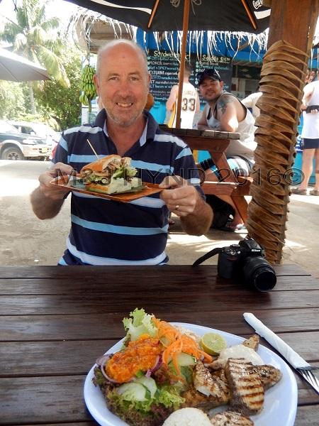 Fish brunch at The Moorings, Muri, Rarotonga, Cook Islands