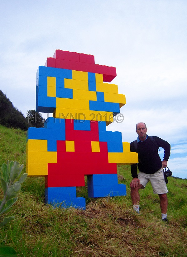lego Mario Brothers sculpture, Sculpture On The Gulf, Waiheke Island, NZ