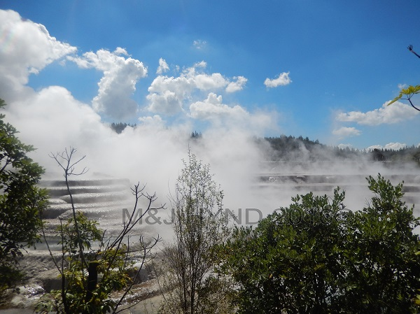 steam and cloud, Wairekei Terraces, Geothermal Valley, Taupo, NZ