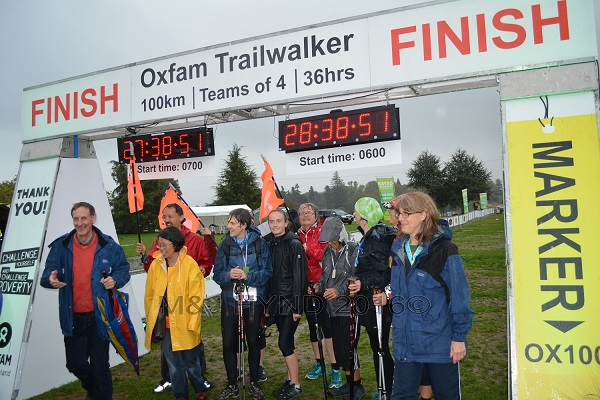 Oxfam Trailwalkers finish line, Taupo, NZ