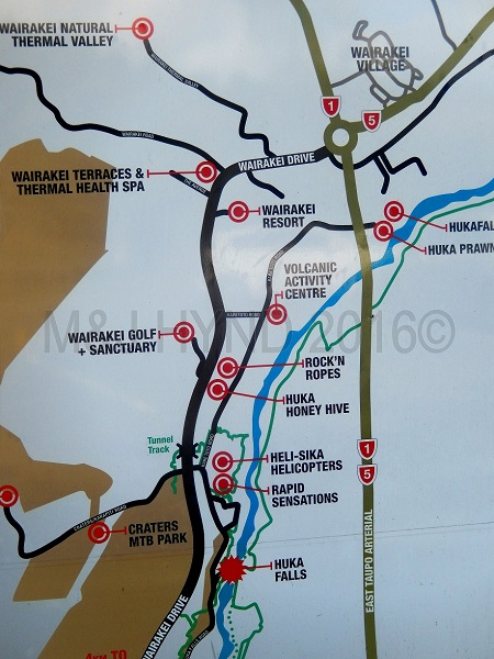 map of Wairekei Tourist Park, Taupo, NZ