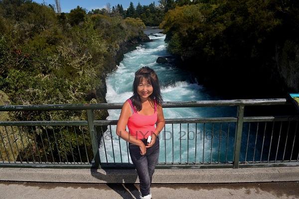 bridge over Huka Falls, Taupo, NZ