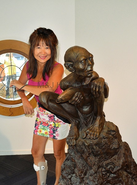 Smeagol gollum at Matamata Tourist Office, Waikato, NZ