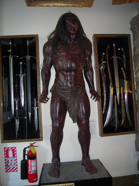 Weta Cave LOTR orc + weapons, Miramar, Wellington, NZ