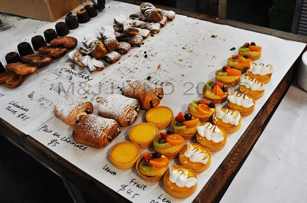 patisserie corner, French Market at La Cigale, Parnell, Auckland, NZ