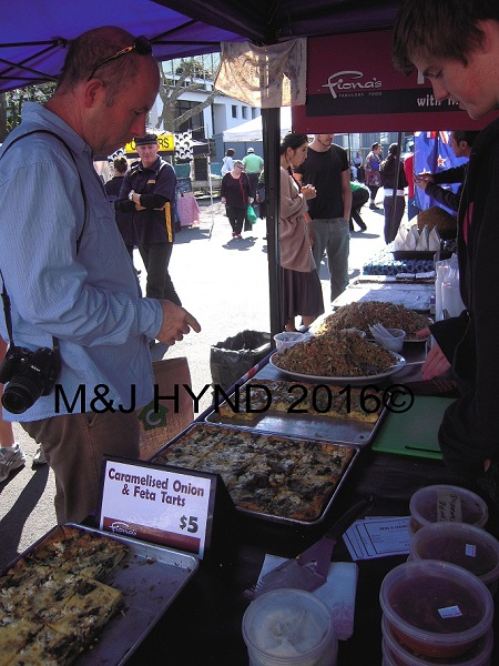 savoury tarts, French Market at La Cigale, Parnell, Auckland, NZ