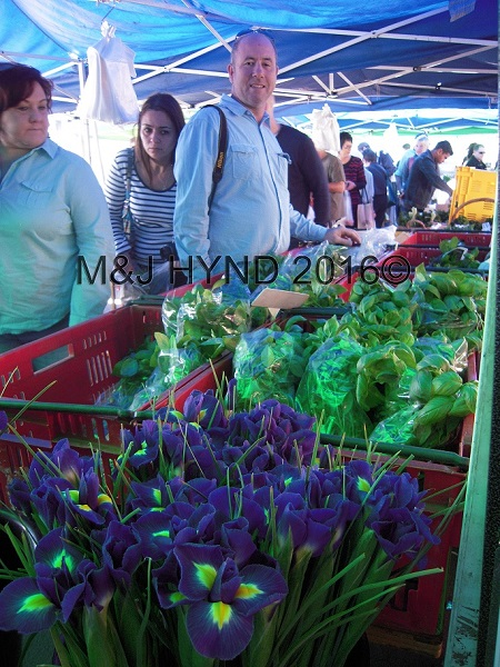 flowers and veg, French Market at La Cigale, Parnell, Auckland, NZ