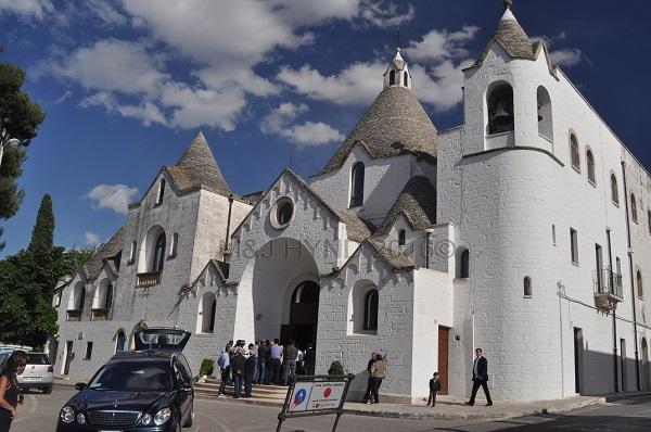 Trulli style San Antonio Church, Alberobello, Puglia, Italy