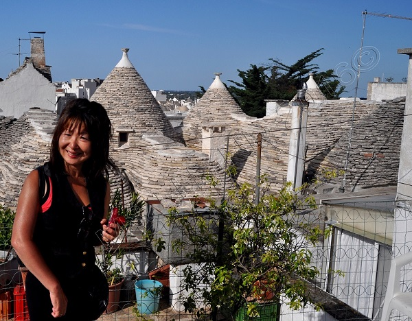 rooftop of Trulli coffee shop, Alberobello, Puglia, Italy
