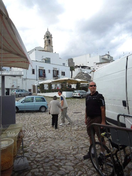 paved square near Trullli houses, Alberobello, Puglia, Italy