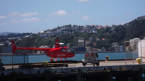 waterfront helicopter, Wellington, NZ