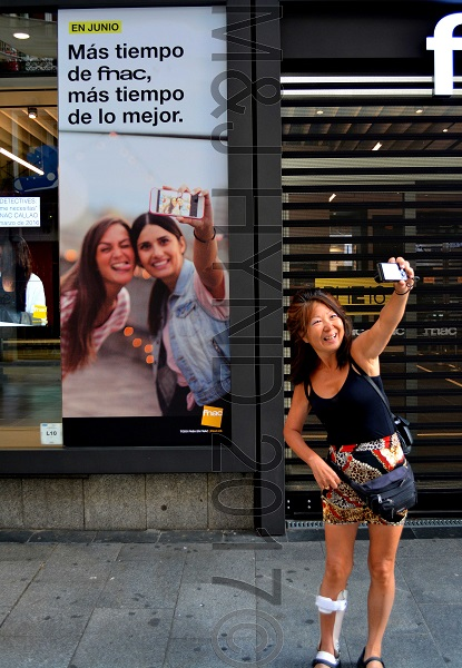outside FNAC department store, Madrid, Spain