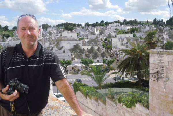 sea of Trulli houses in the background, Alberobello, Puglia, Italy