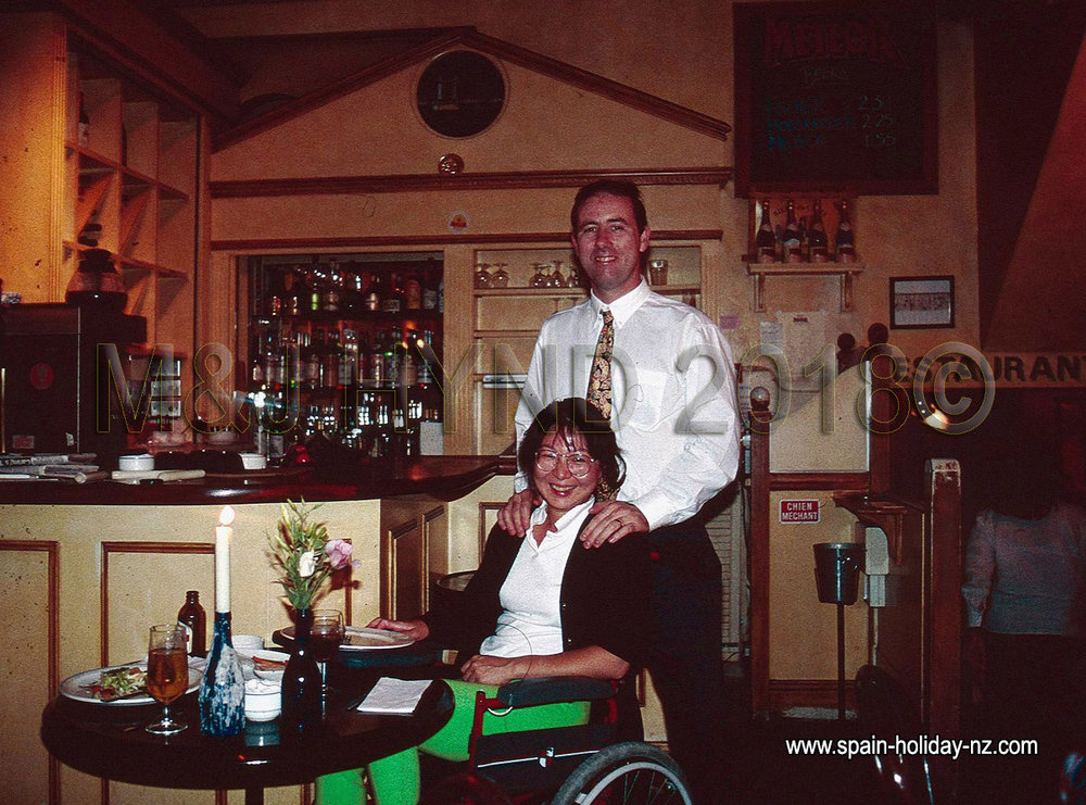 Post-stroke: wheelchair in London restaurant