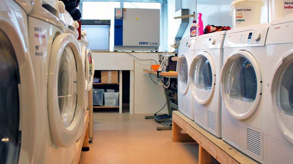 Alle produkter blir testet ti runder i vaskemaskin, på 60 eller 90 grader.