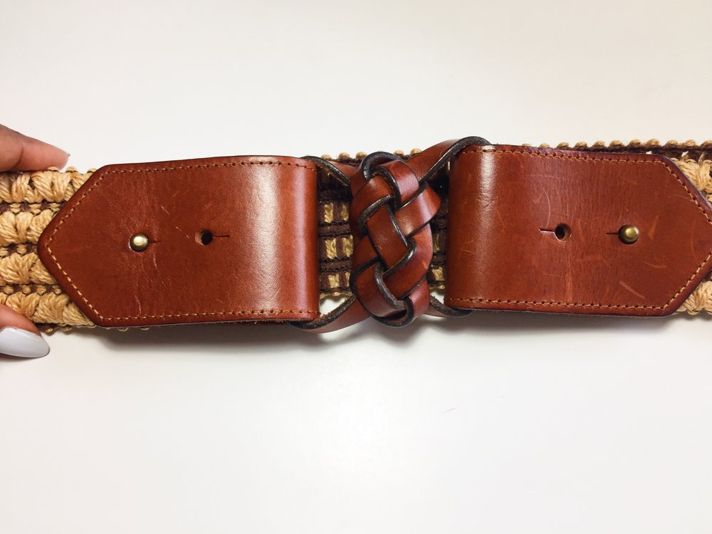 Anthropologie Leather Belt