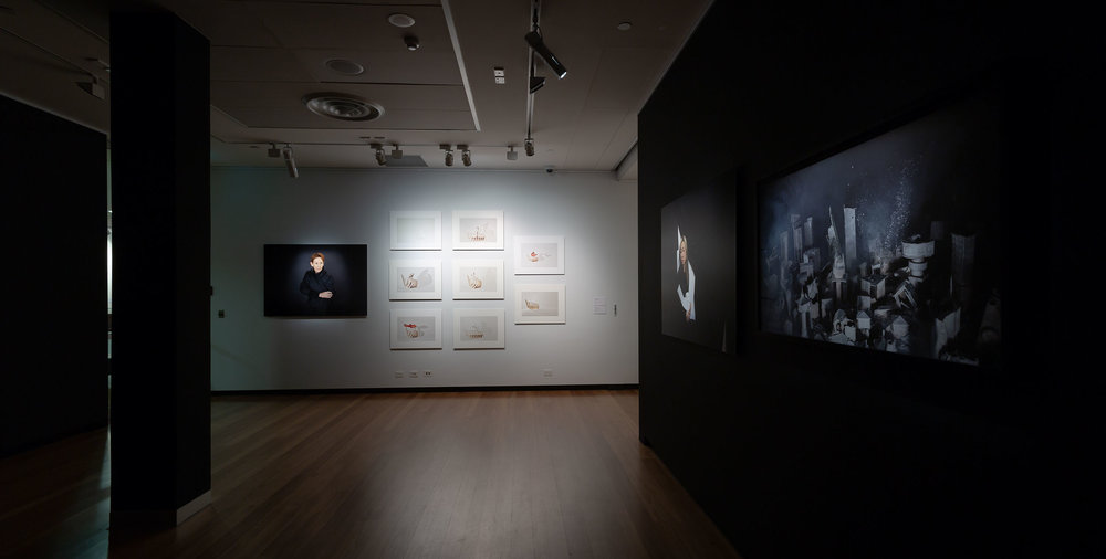Installation view at Town Hall Gallery September 2018. Photography by Christian Capurro.