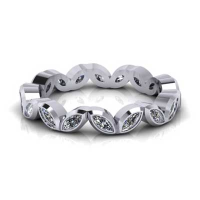 marquise eternity ring, made in hertfordshire