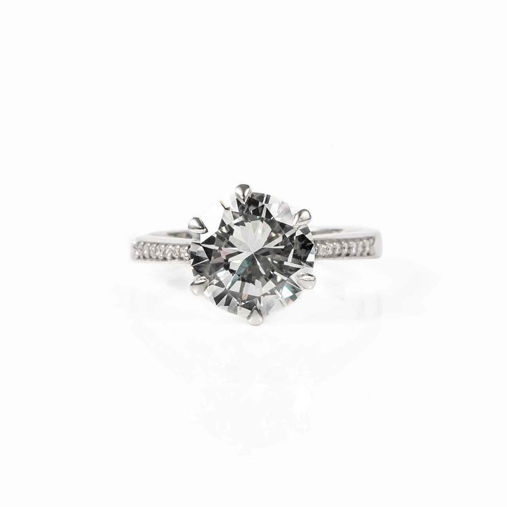 Custom Solitaire diamond ring - Created in Hitchin by James Veale bespoke