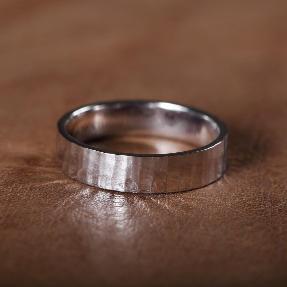 Textured men's wedding band cambridge