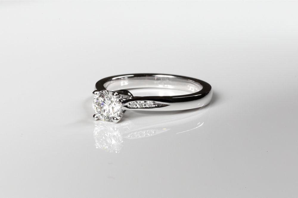 Bespoke diamond engagement ring made in Hertfordshire