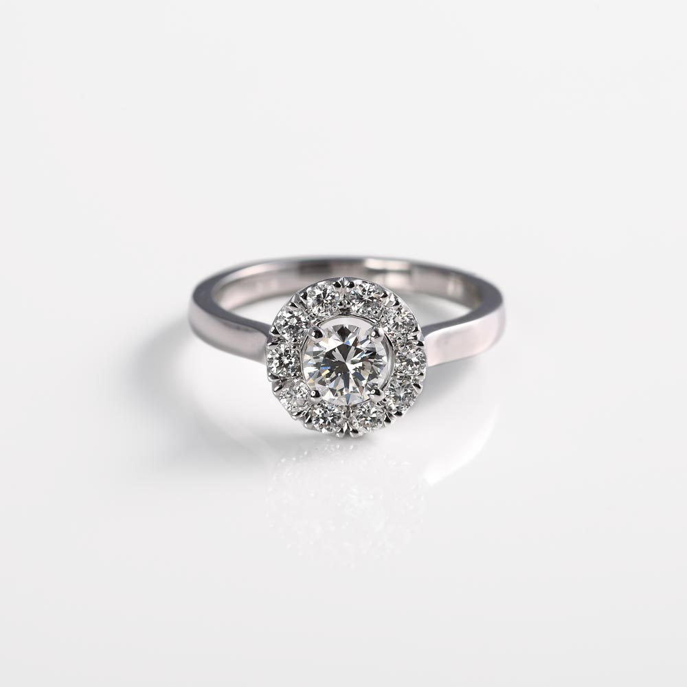 Diamond Halo made using a heirloom ring by James Veale Jewellery in Cambridge