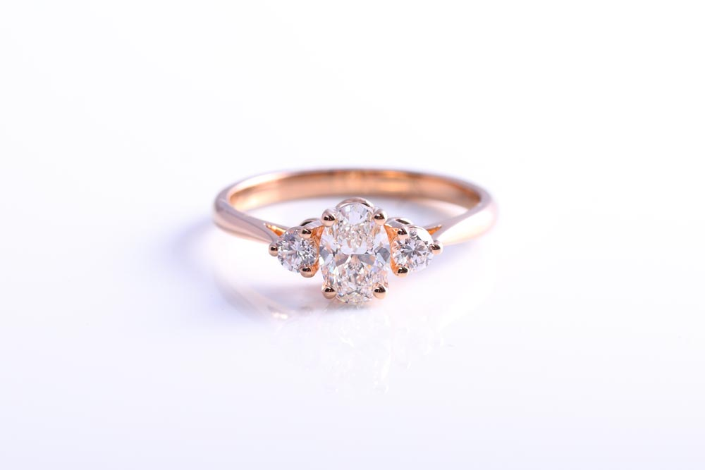 Rose Gold and Diamond Trilogy - Made in Hitchin by James Veale Jewellery