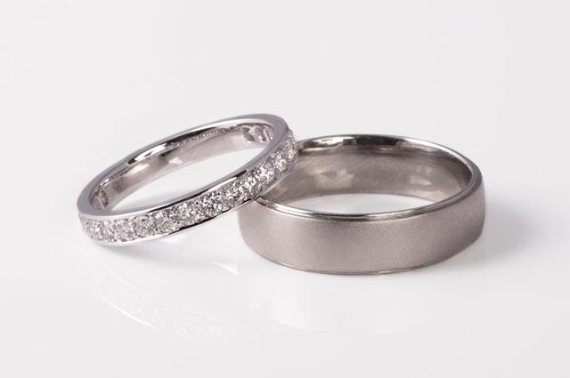 I completed these stunning platinum wedding bands this week. Look forward to showing my clients. 😊