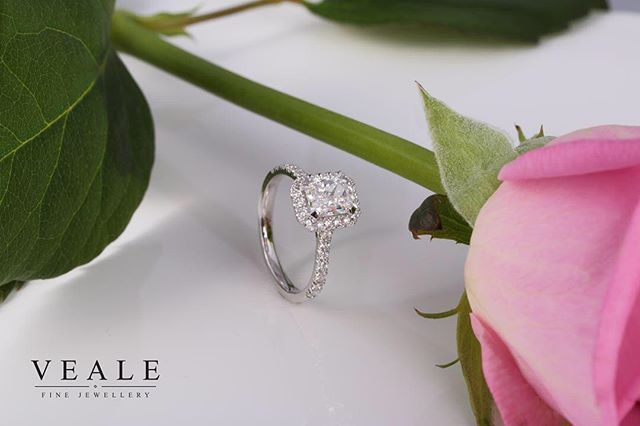 I loved working on the radiant cut halo ring.