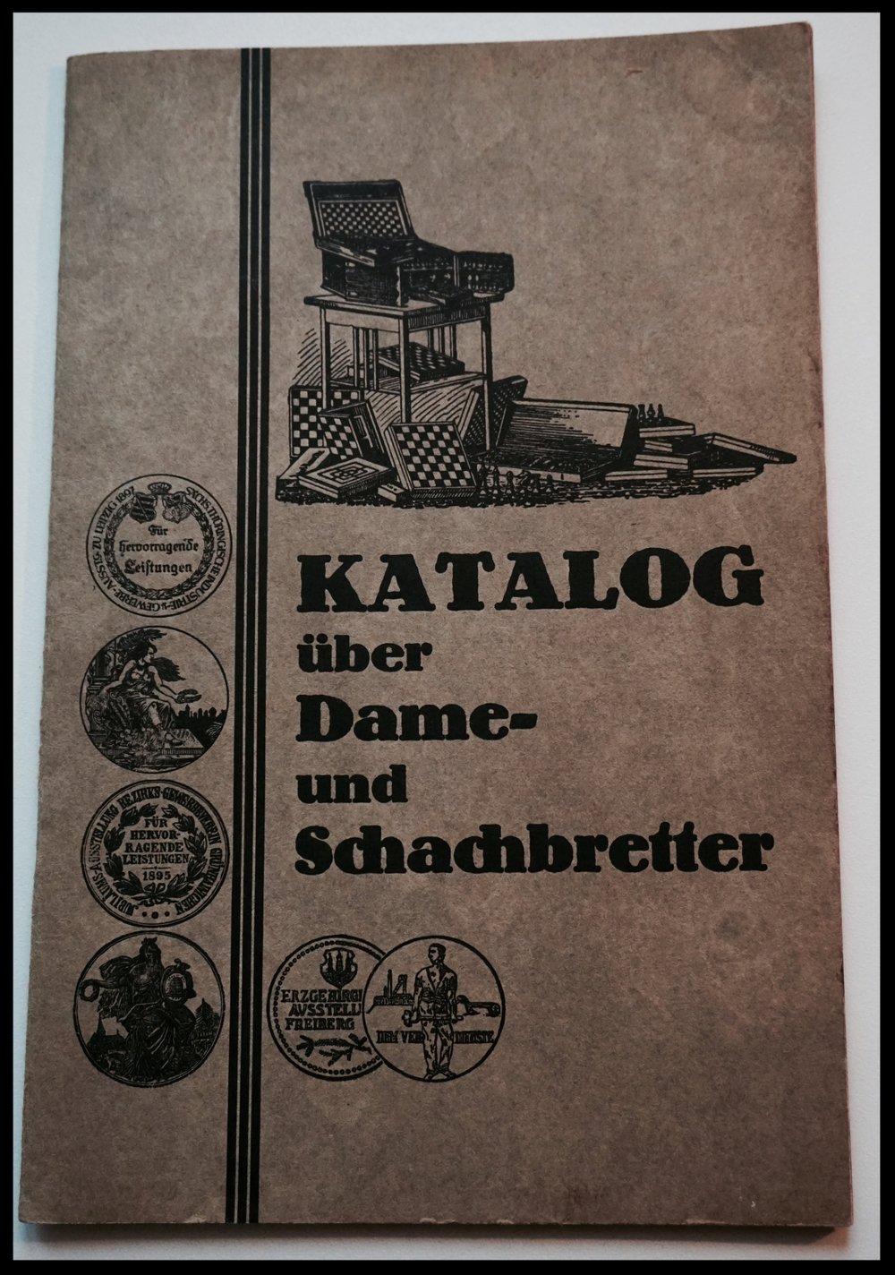 Katalog über Dame- und Schachbretter, Uhlig um 1915
